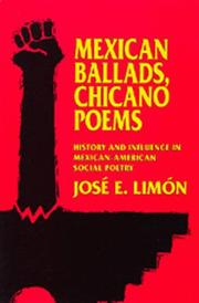 Cover of: Mexican ballads, Chicano poems | JoseМЃ Eduardo LimoМЃn