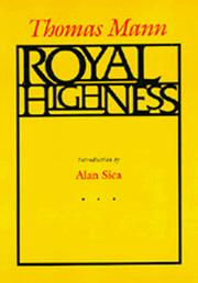 Cover of: Royal highness | Thomas Mann