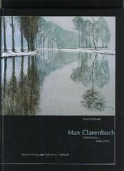 Cover of: Max Clarenbach. 1880 Neuss - Köln 1952