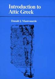Cover of: Introduction to Attic Greek | Donald J. Mastronarde