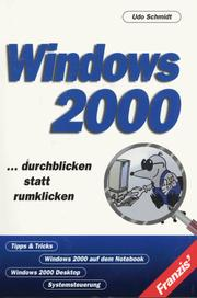 Cover of: Windows 2000. Durchblicken statt rumklicken