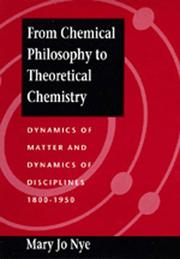 Cover of: From chemical philosophy to theoretical chemistry