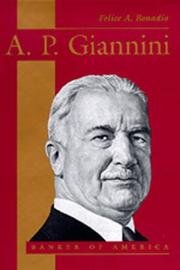 Cover of: A.P. Giannini | Felice A. Bonadio
