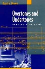 Cover of: Overtones and undertones | Royal S. Brown
