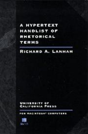 Cover of: A Hypertext Handlist of Rhetorical Terms