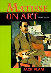Cover of: Matisse on art