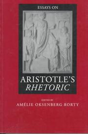 Essays on Aristotle's Rhetoric