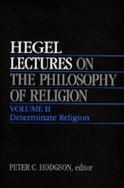 Cover of: Lectures on the Philosophy of Religion, Vol. II