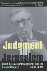 Cover of: Judgment in Jerusalem
