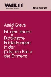 Cover of: Erinnern lernen