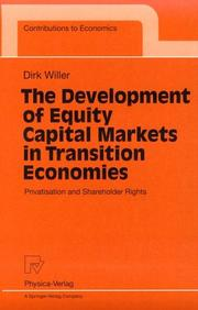 Cover of: The Development of Equity Capital Markets in Transition Economies