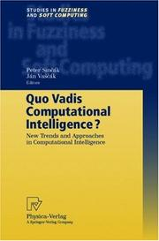 Cover of: Quo Vadis Computational Intelligence?