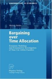 Cover of: Bargaining over Time Allocation
