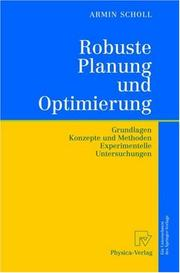 Cover of: Robuste Planung und Optimierung