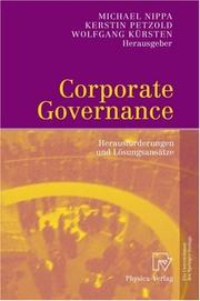 Cover of: Corporate Governance