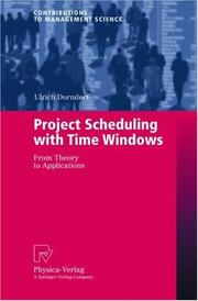 Cover of: Project Scheduling with Time Windows