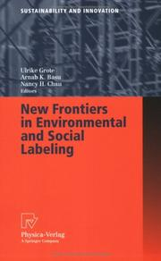 Cover of: New Frontiers in Environmental and Social Labeling (Sustainability and Innovation) |