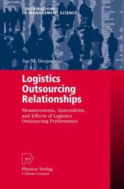 Cover of: Logistics Outsourcing Relationships
