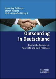 Cover of: Outsourcing- Projekte erfolgreich realisieren