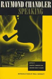 Cover of: Raymond Chandler speaking