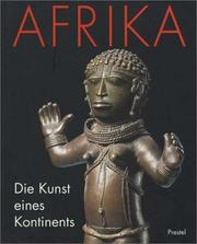 Cover of: Afrika. Die Kunst eines Kontinents
