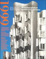 Cover of: Architecture in Germany 1999