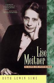 Cover of: Lise Meitner | Ruth Lewin Sime