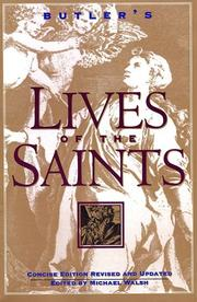 Cover of: Butler's Lives of the Saints | Michael Walsh