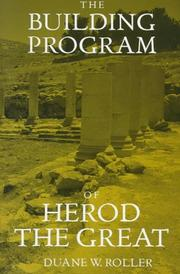 Cover of: The building program of Herod the Great