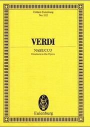 Cover of: Nabucco