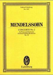 Cover of: Concerto No. 2 in D Minor, Op. 40