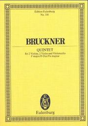 Cover of: String Quintet in F Major