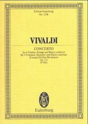 Cover of: Concerto Grosso in D Major, Op. 3/1, RV 549/PV 146: L'Estro Armonico