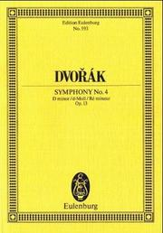 Cover of: Symphony No. 4, Op. 13 in D minor