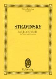 Cover of: Concerto in D minor | Igor Stravinsky