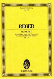 Cover of: String Quartet in F-Sharp Minor, Op. 121