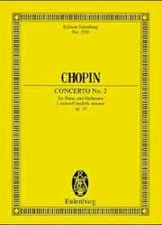 Cover of: Piano Concerto No. 2 in F Minor, Op. 21