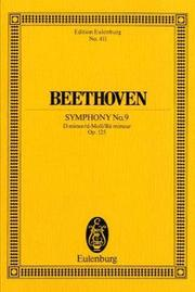 "Cover of: Symphony No. 9 in D minor, Op. 125 ""Choral"""