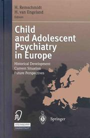 Cover of: Child And Adolescent Psychiatry In Europe