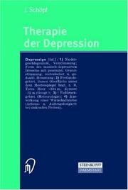 Cover of: Therapie der Depression