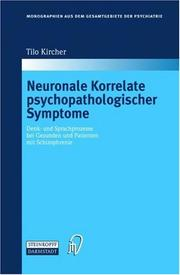 Cover of: Neuronale Korrelate psychopathologischer Syndrome