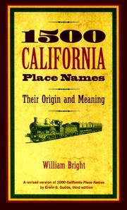 Cover of: 1500 California place names