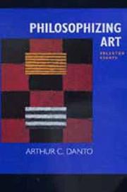 Cover of: Philosophizing art