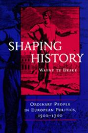 Cover of: Shaping history