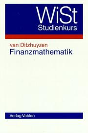 Cover of: Finanzmathematik