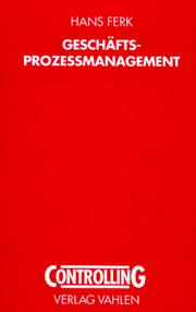 Cover of: Geschäfts - Prozeßmanagement