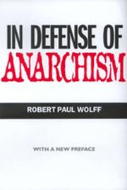 Cover of: In defense of anarchism