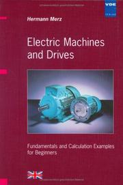 Cover of: Electric Machines and Drives. Fundamentals and Calculation Examples for Beginners