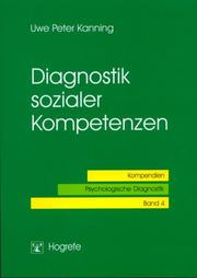 Cover of: Diagnostik sozialer Kompetenzen