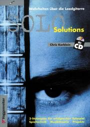 Cover of: Solo Solutions. Inkl. CD